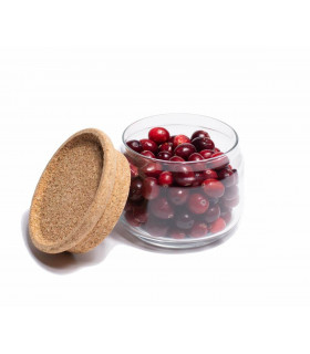 Glass Jar With Cork Lid for food storage - 0,5L, Ah Table