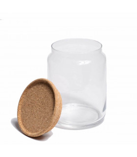 Glass Jar With Cork Lid - 1L, Ah Table