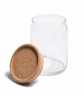Food storage glass jar with cork lid, 2L