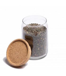 Food storage glass jar 2L