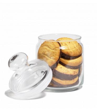 Glass vintage cookie jar, 0,75L