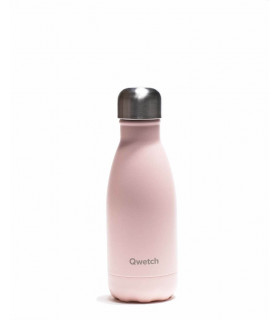 Stainless steel pink bottle, 260 ml, Qwetch