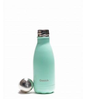 Bouteille isotherme en inox Qwetch pastel vert 260 ml ouverte