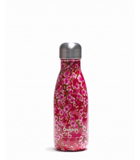 Small Pink flower pattern Qwetch reusable water bottle