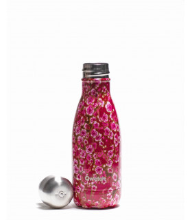 Bouteille isotherme en inox Qwetch fleurs rose 260 ml