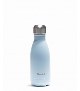 Small Pastel blue colored Qwetch reusable water bottle