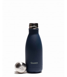 Bouteille isotherme inox 260ml bleu granit Qwetch