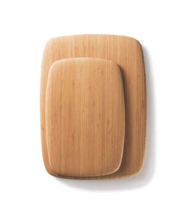 Two serving and cutting boards stacked on each other