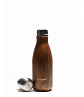 Reusable water bottle wood Qwetch 260 ml