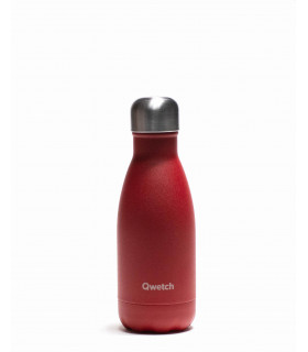 Bouteille isotherme rouge en inox 260ml granit Qwetch
