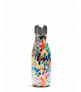 Small arty colored Qwetch reusable water bottle