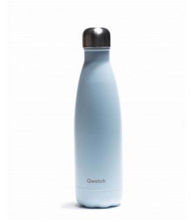 Bouteille isotherme Qwetch pastel bleu 500 ml en inox