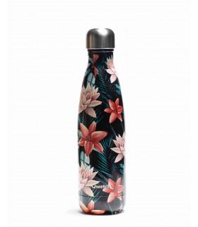Reusable metal bottle tropical flowers 500 ml