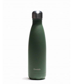 Reusable water bottle 500 ml khaki Qwetch