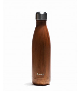 Bouteille isotherme Qwetch bois 500 ml en inox