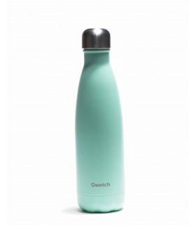 Bouteille isotherme Qwetch pastel vert 500 ml en inox