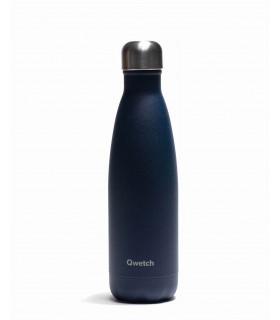 Bouteille isotherme bleu granite Qwetch 500 ml en inox