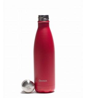 Metal bottle Medium Raspberry Red Qwetch