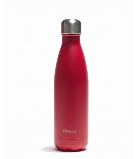 Bouteille isotherme rouge framboise Qwetch 500 ml