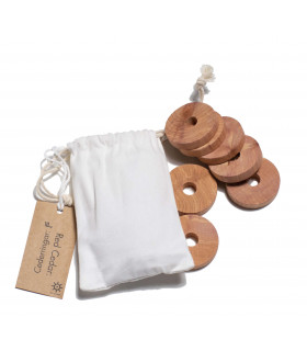 Cedar Wood Moth Repellent Clothes Discs