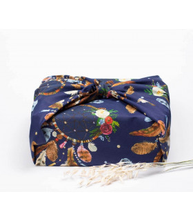 Tissu pour emballer cadeaux, 75x75cm, Takaterra.com