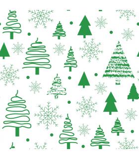 Grand furoshiki, motif Noël vert, Takaterra