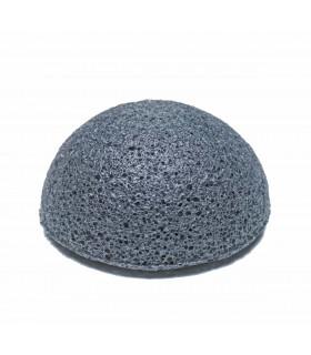 Éponge konjac au charbon pour visage
