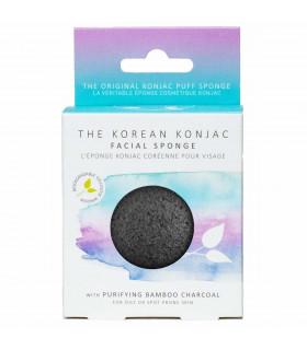 Charcoal konjac face sponge