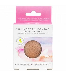 French pink clay natural konjac sponge