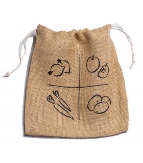 Small jute vegetable bag