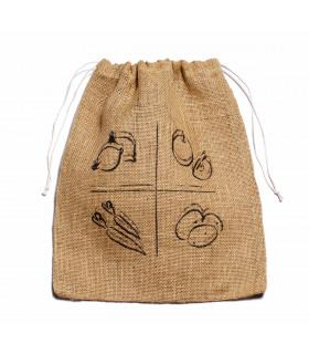 Medium vegetable produce bag in jute