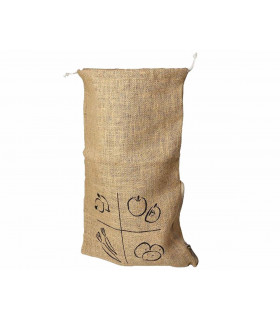 Extra large vegetable produce bag in jute