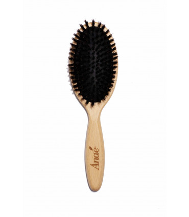 Oval Cushioned Hairbrush - Beech Wood and Boar Bristle