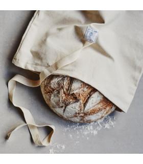 Sac à pain réutilisable et naturel