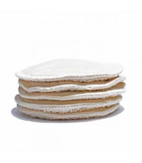 Reusable and washable organic cotton pads