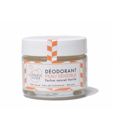 Natural Vegan deodorant balm Vanilla for sensitive skin by Clémence and Vivien