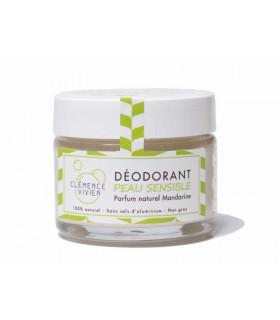 Natural Vegan deodorant balm Tangerine for sensitive skin by Clémence and Vivien