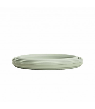 Stojo sage collapsible bowl with lid