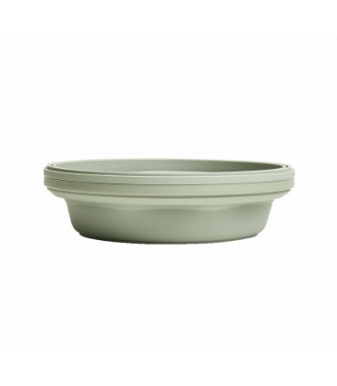 Silicone Stojo sage collapsible bowl with lid