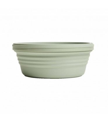 Silicone Stojo green collapsible bowl with lid