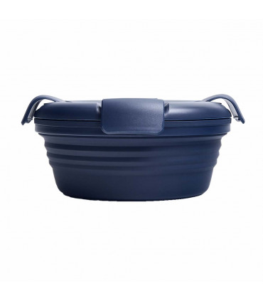Collapsible Stojo dark blue lunch box