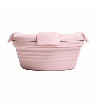Stojo light pink collapsible lunch bowl
