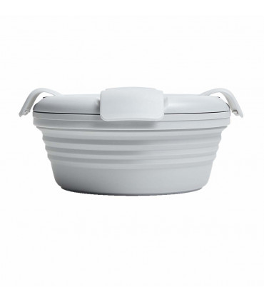 Stojo collapsible bowl in silicone, Cashmere