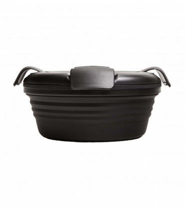 Stojo collapsible bowl in silicone, black