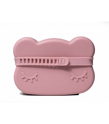 Snackie box in silicone for kids, Dusty Rose