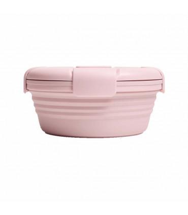 Collapsible food storage, Stojo, light pink
