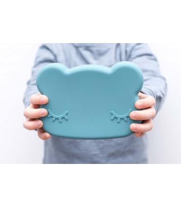 We might be tiny lunch box pour enfants, ours bleu