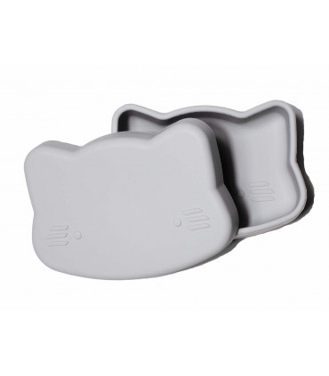 We might be tiny lunch box for kids, grey color
