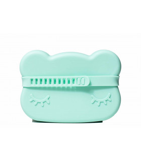 We might be tiny silicone snackie box for kids, minty green