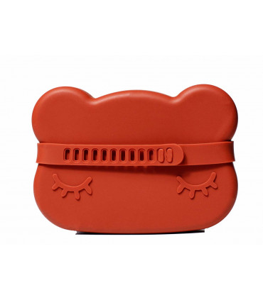 We might be tiny silicone snackie box for kids, rust